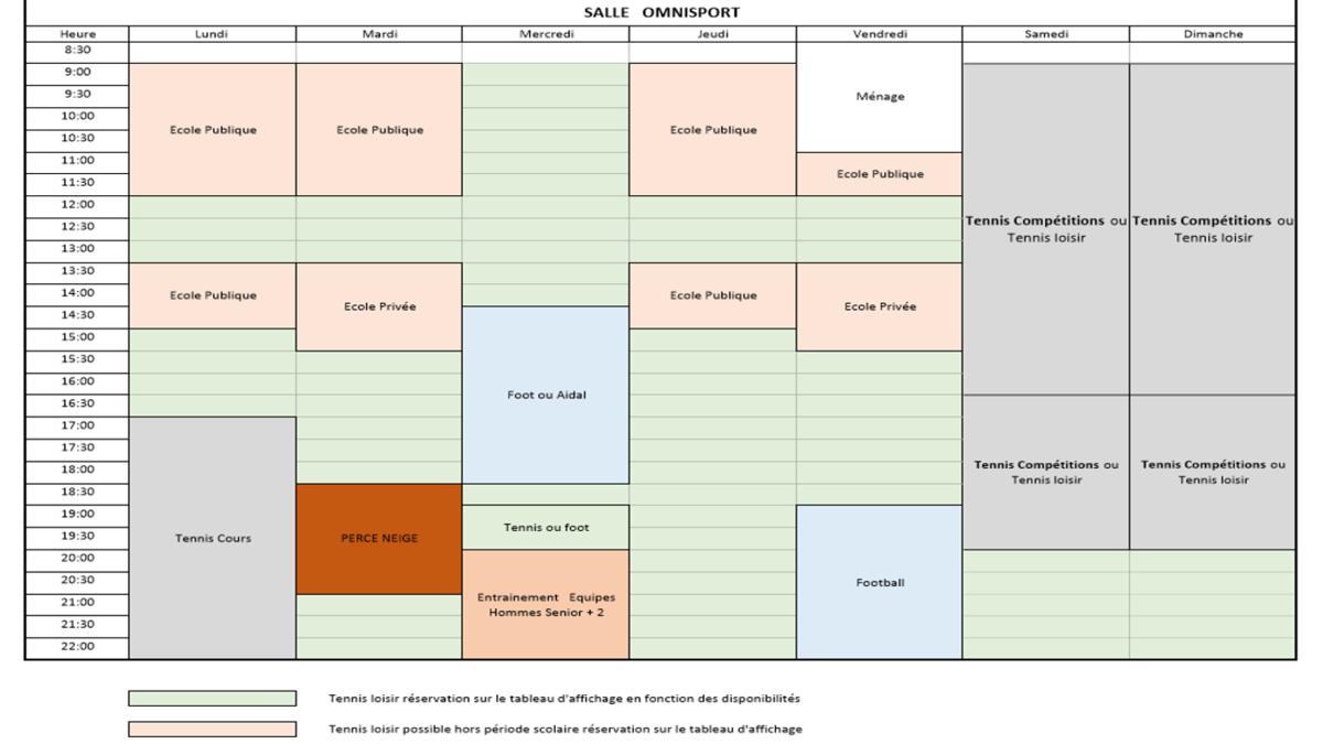 Planning des salles