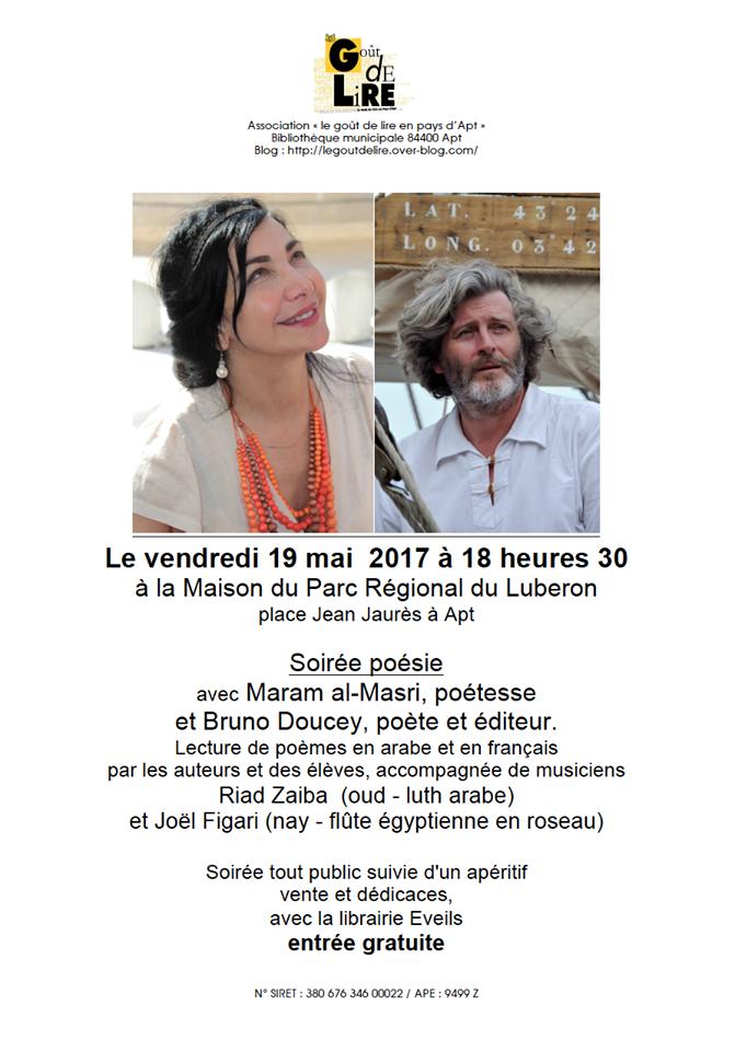 Soirée Poésie Vendredi 19 Mai 2017