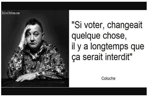 Ne pas voter est une forme de vote…