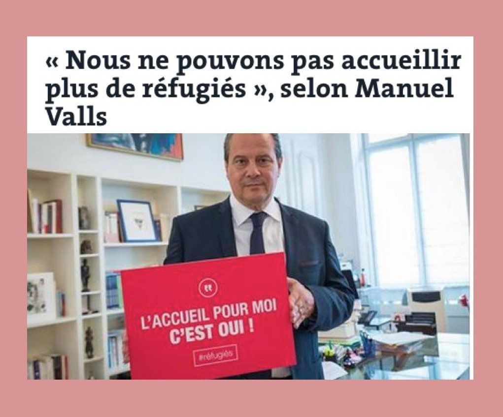 Migrants : Samuel (*) Valls n'en veut plus !