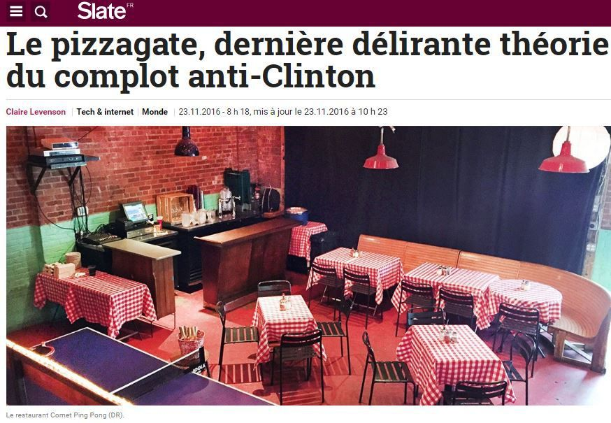 ÉCŒURANT: les médias de masse considèrent le #PizzaGate comme une &quot&#x3B;rumeur&quot&#x3B; qui &quot&#x3B;empoisonne le web&quot&#x3B;