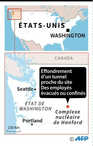 USA: Un tunnel s'effondre dans la &quot&#x3B;poubelle&quot&#x3B; nucléaire = État d'urgence au complexe nucléaire de Hanford aux États-Unis