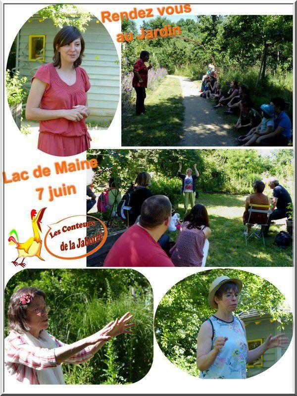 dimanche 7 juin, un bon moment, à l'ombre, dans le jardin bio du Lac de Maine