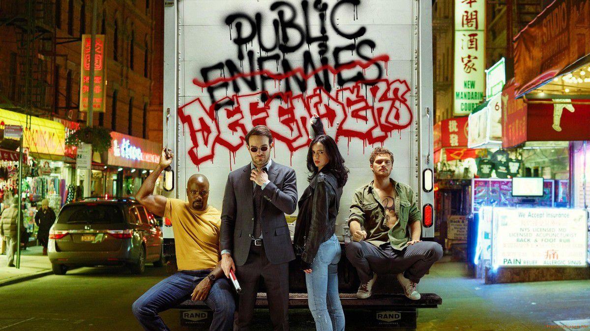 Les public Defenders : force jaune, force rouge, force bleue et force verte !