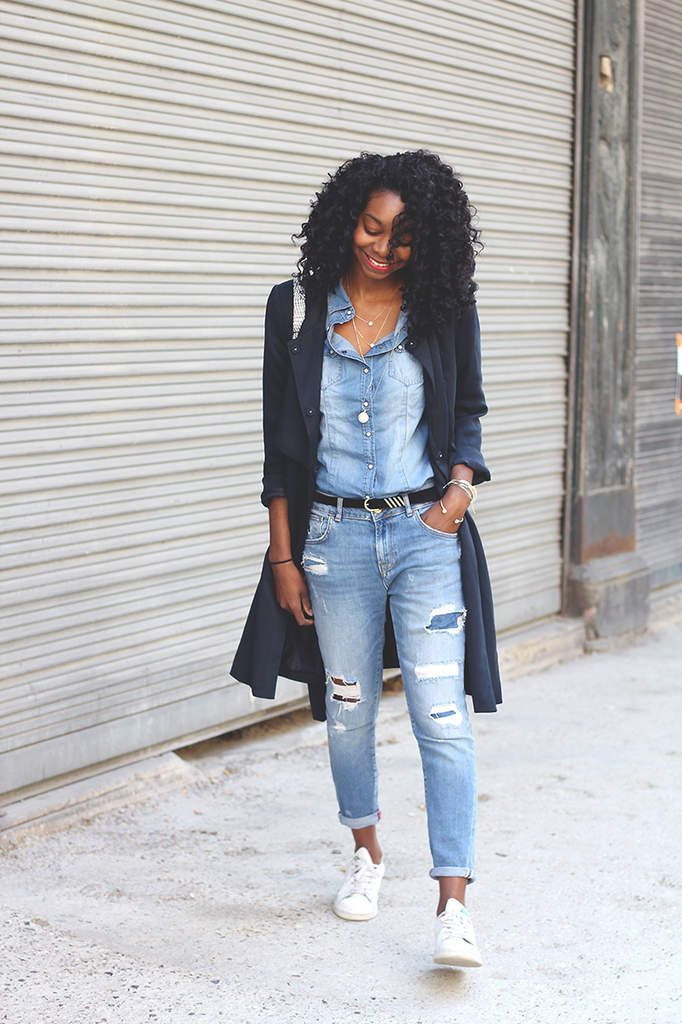 Un total look denim par Stéphanie
