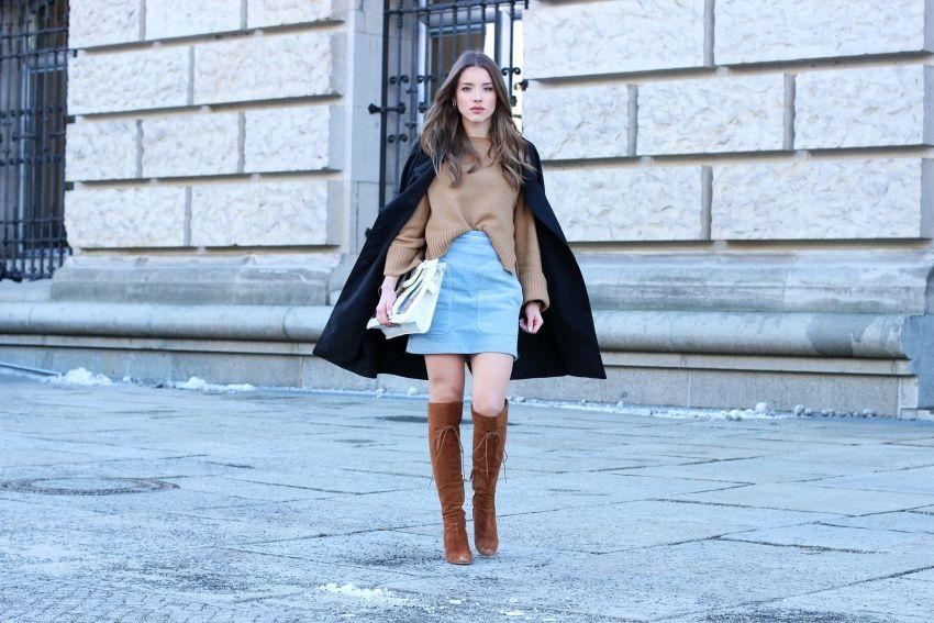 Look du jour : Osez la jupe en hiver