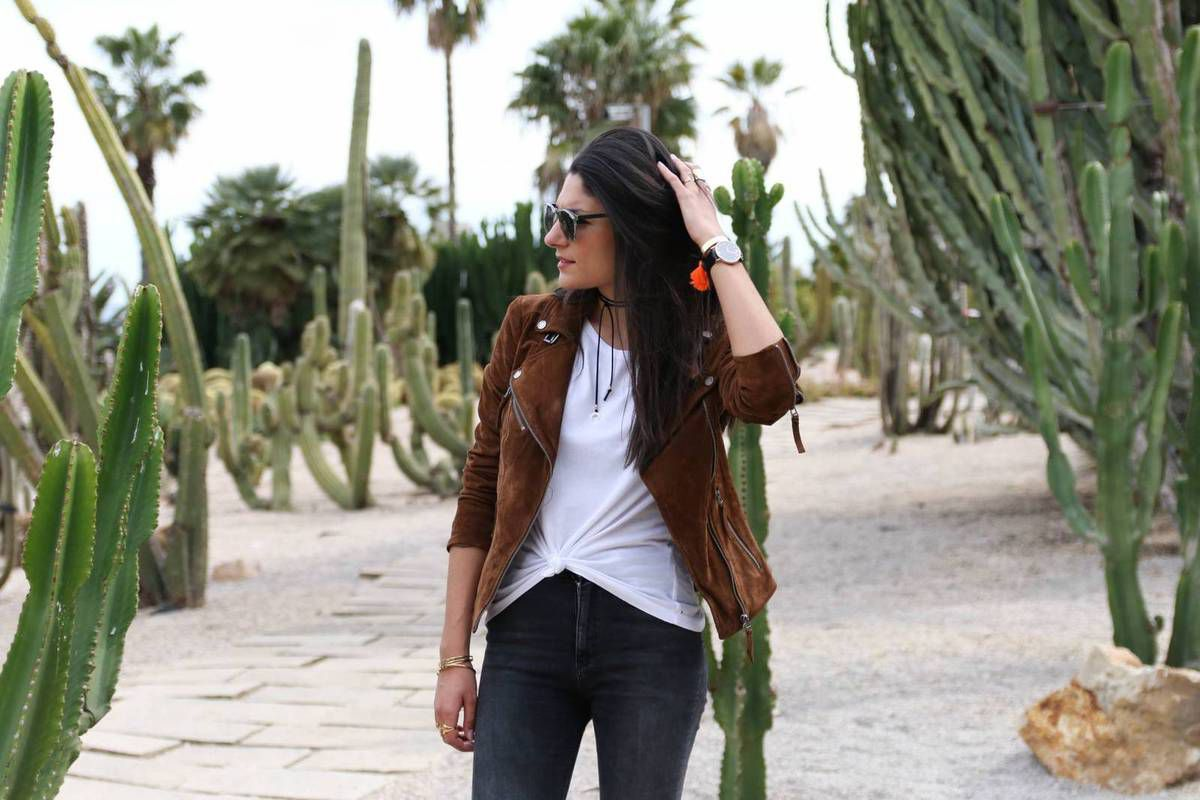 Extrêmement Look du jour : Le perfecto en daim camel - Question Look EL81