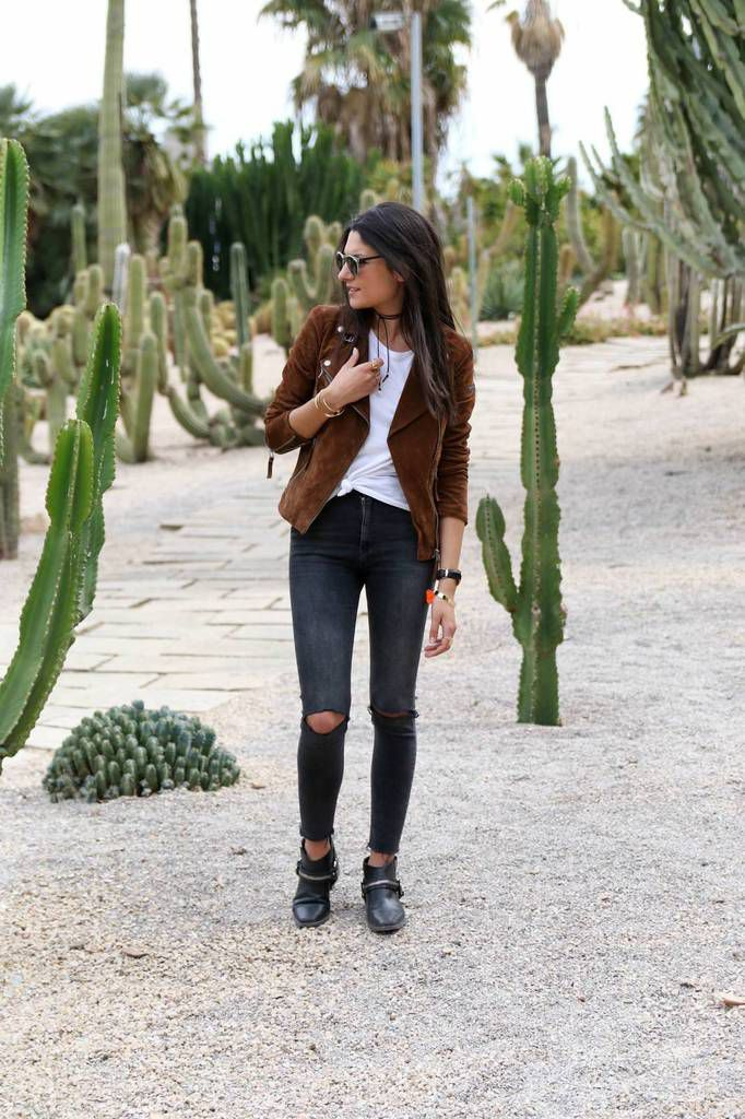 Super Look du jour : Le perfecto en daim camel - Question Look RB83