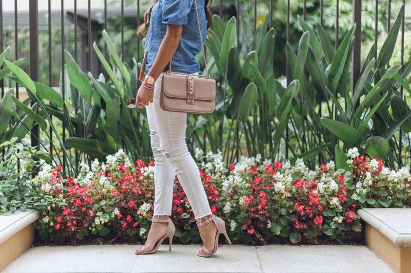 Look du jour : Chic en jean blanc