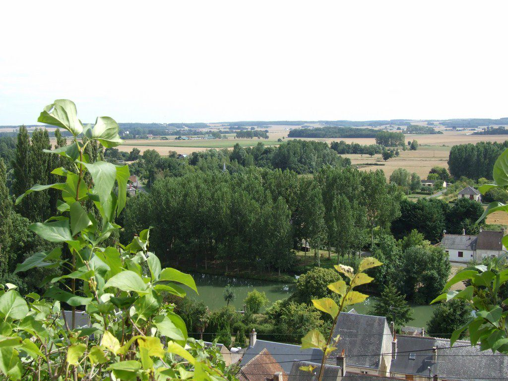 Le village de Trôo, sur les bords du Loir