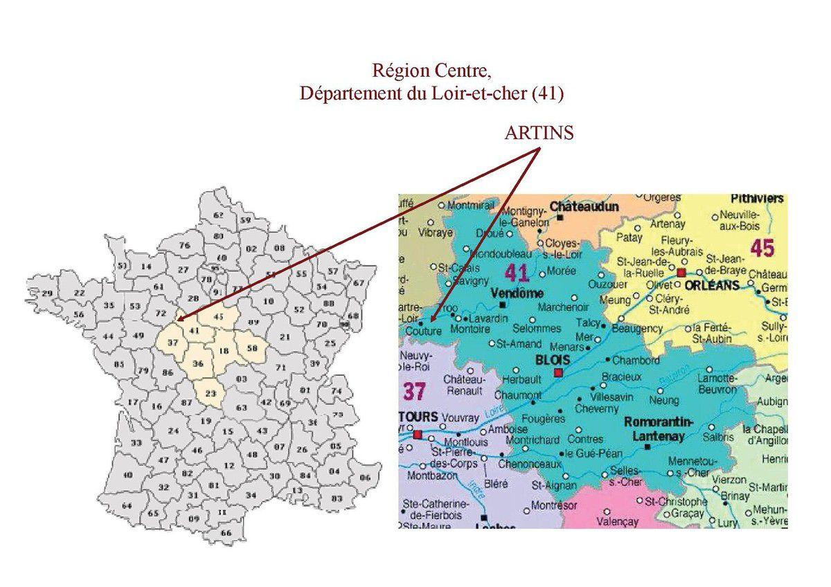 Positionnement dans le département du Loir-et-Cher et en Région Centre
