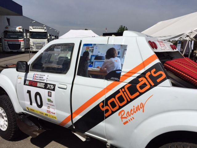Recherche de sponsors et plaisir d'être avec la voiture....même sil elle n'a pas bougé;-(