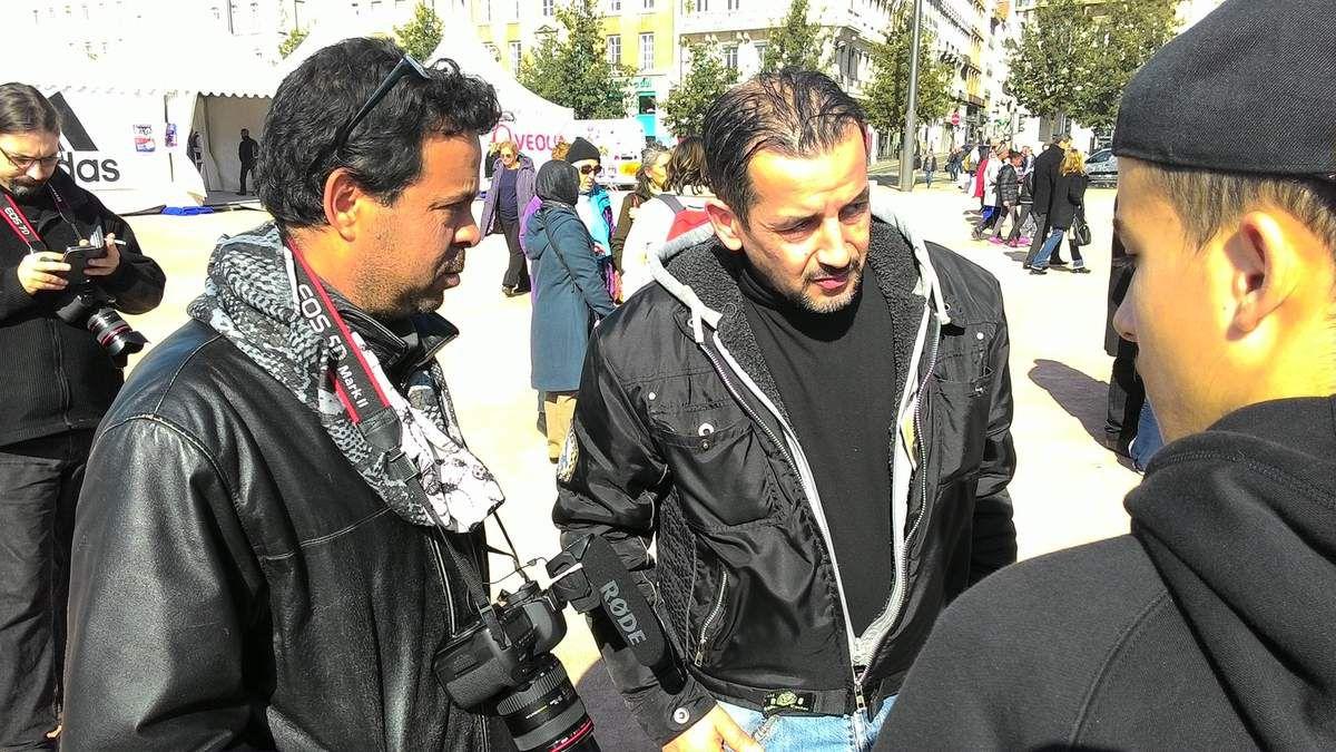 ...Arbi pouvait aussi compter sur d'anciens marcheur comme ici avec Farouk Sekkai.