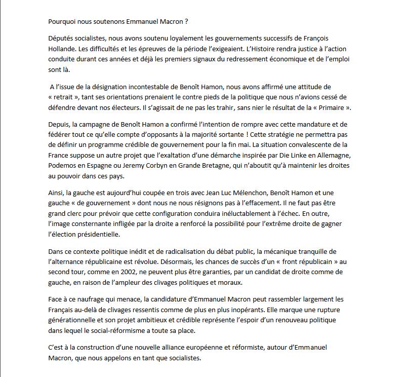 Vénissieux &quot&#x3B;Tribune pro-Macron&quot&#x3B; : Pourquoi le député Yves Blein PS ( Vallsiste) a lui, nié son existence dans une publication de Lyonmag(9) ?