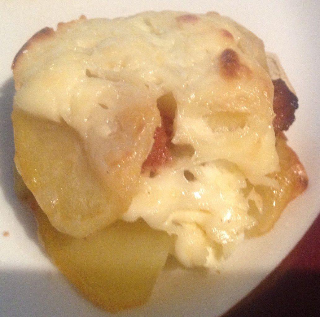 Timbale de pomme de terre au foie gras
