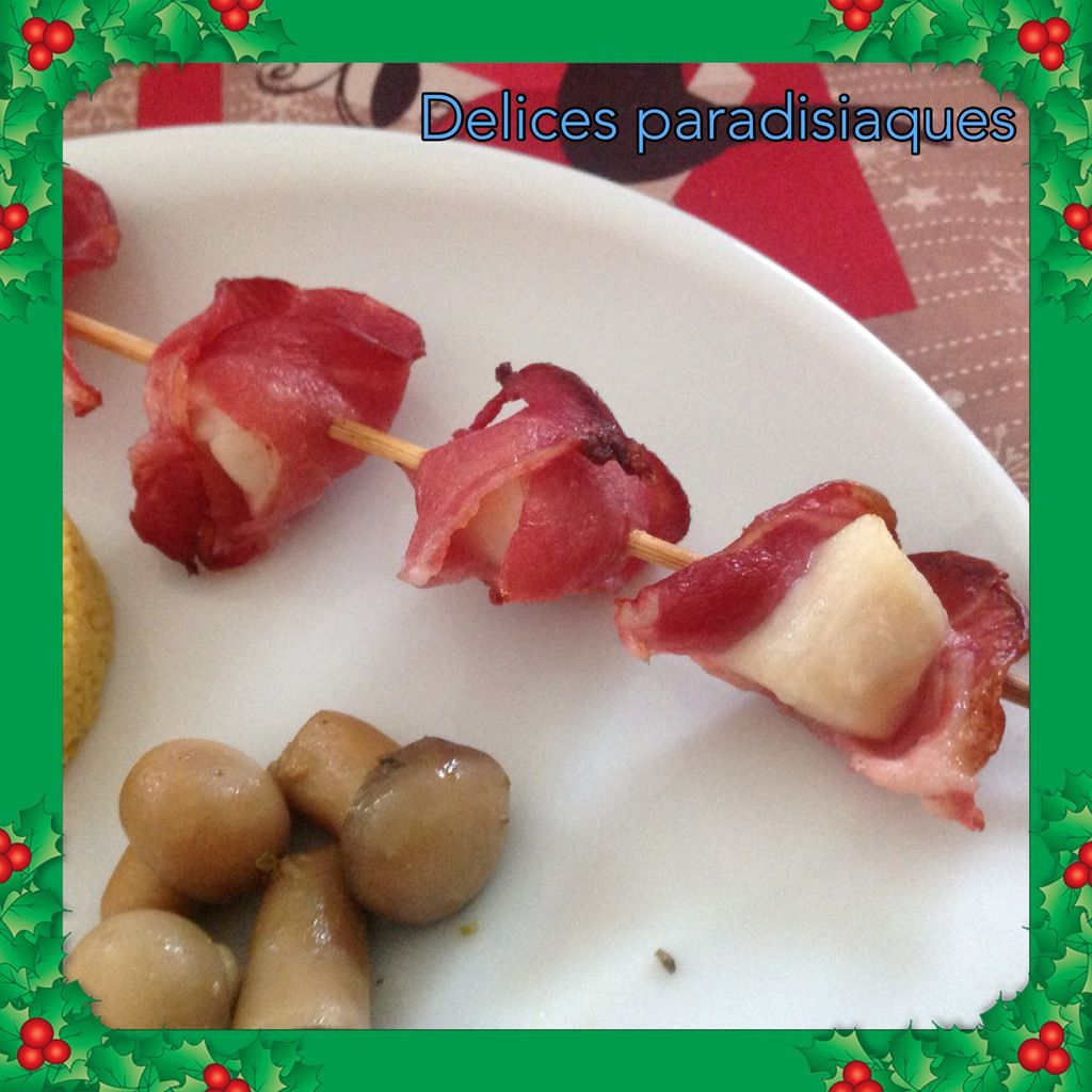 Brochettes de noix de saint-jacques au bacon