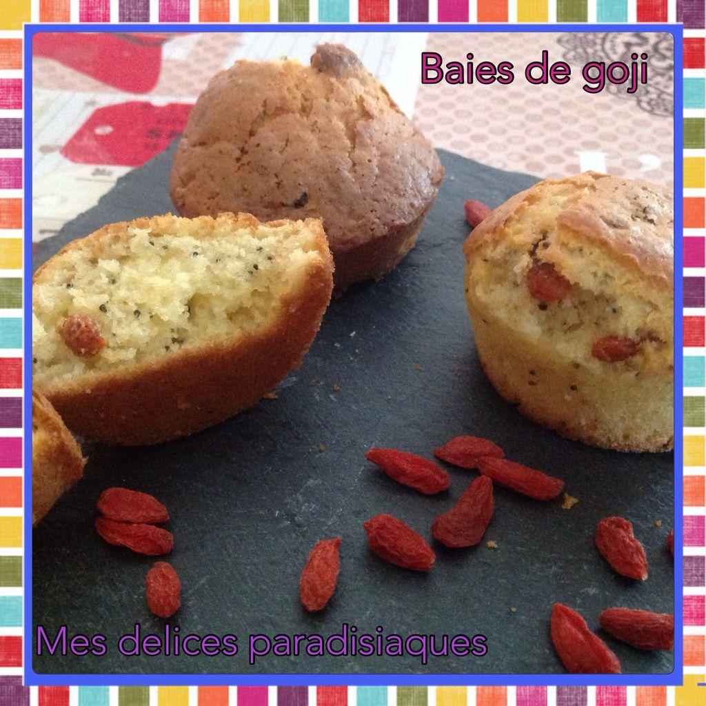 Muffins aux baies de Goji et graines de pavot
