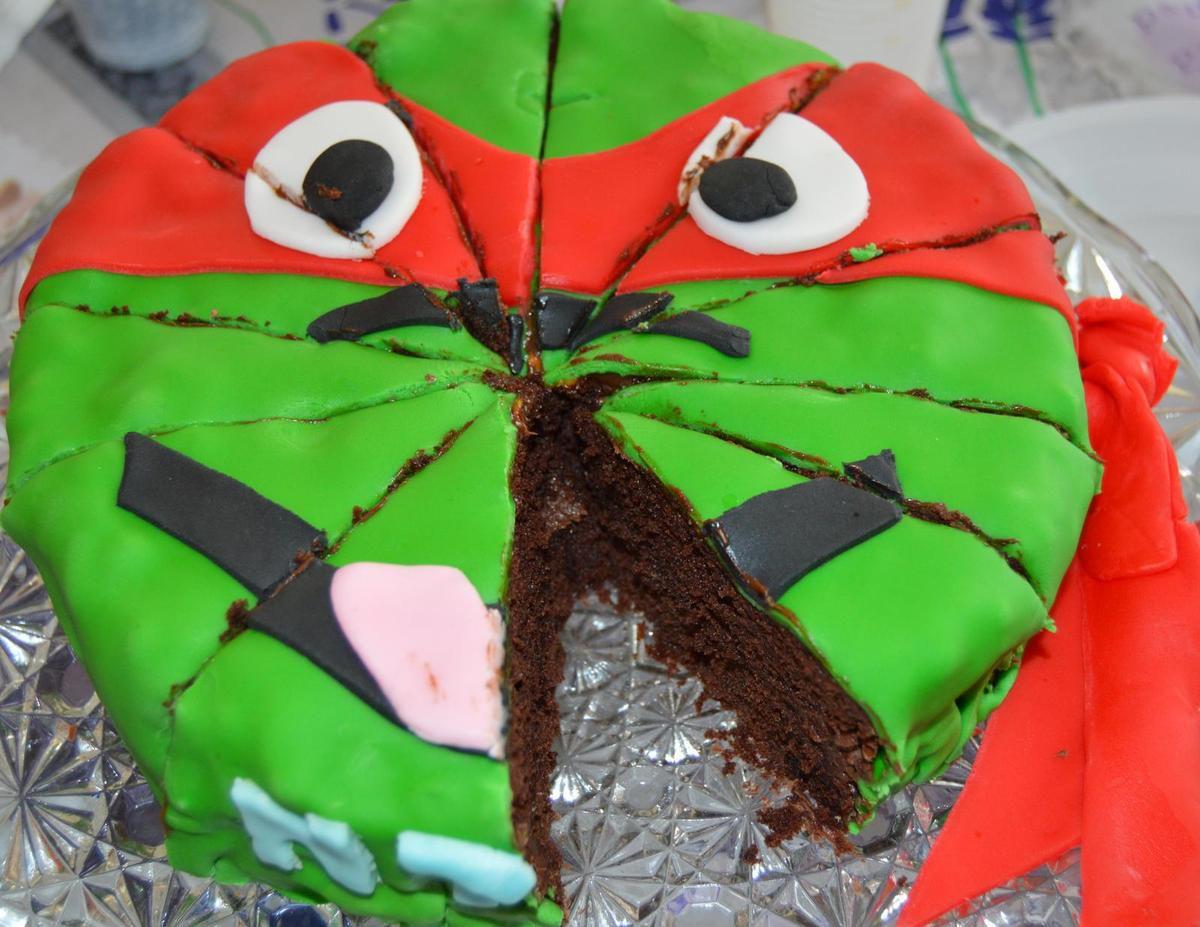 Gâteau tortue ninja pour anniversaire d'Anton