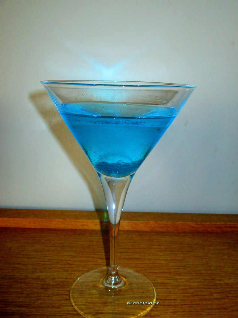Vodka bleue