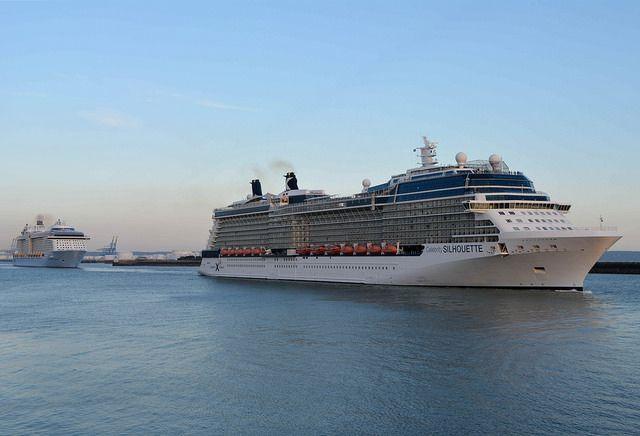 Le Celebrity Silhouette ne devançait l'Anthem of the Seas que de quelques centaines de mètres