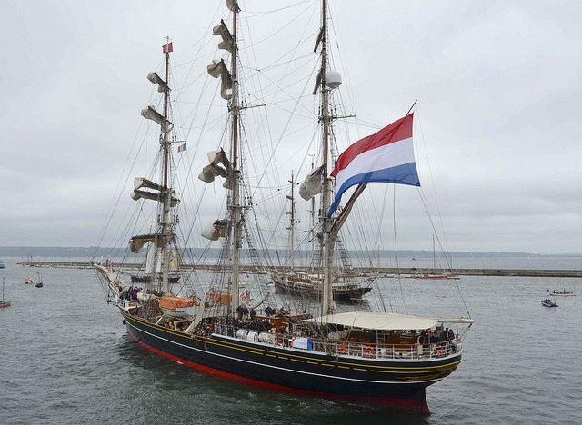 Le voilier Stad Amsterdam à Brest