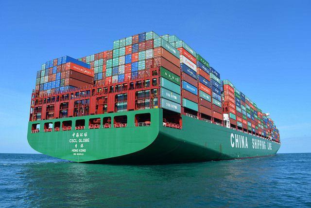 Le plus grand porte conteneurs du monde passe devant cherbourg - Les plus grand port du monde ...