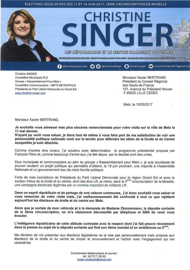 Lettre à Xavier Bertrand : En finir avec les pratiques d'un autre temps sur la 3ème circonscription de Moselle