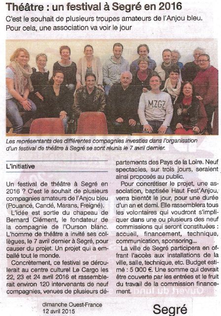 Ouest-France - 12/04/15