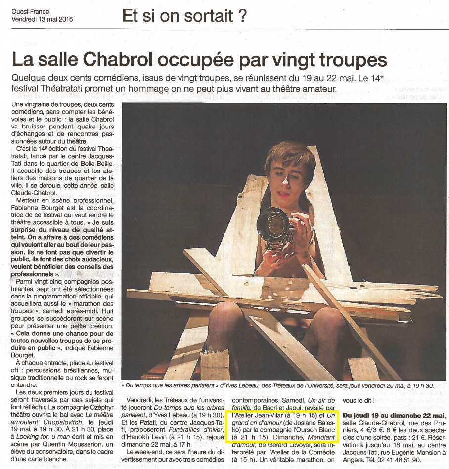Ouest-France - 13/05/16