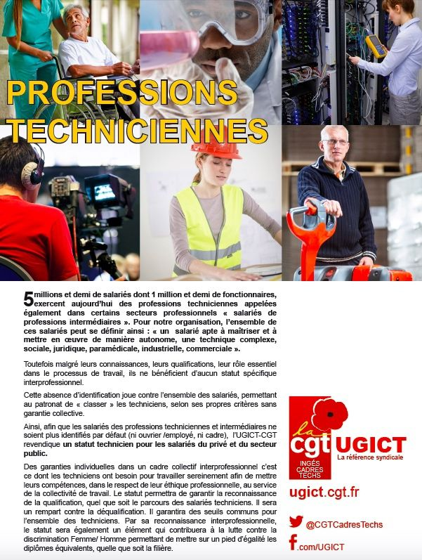 Professions :Techniciennes
