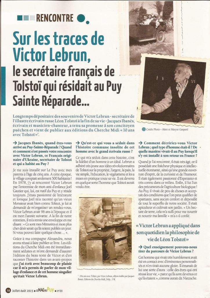 Le Mag du Puy Ste Réparade Juillet 2015!