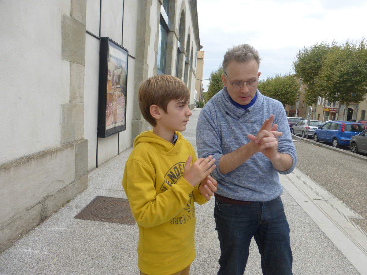 Discussion entre Jean-Claude Charles et Tristan sur l'animation des images