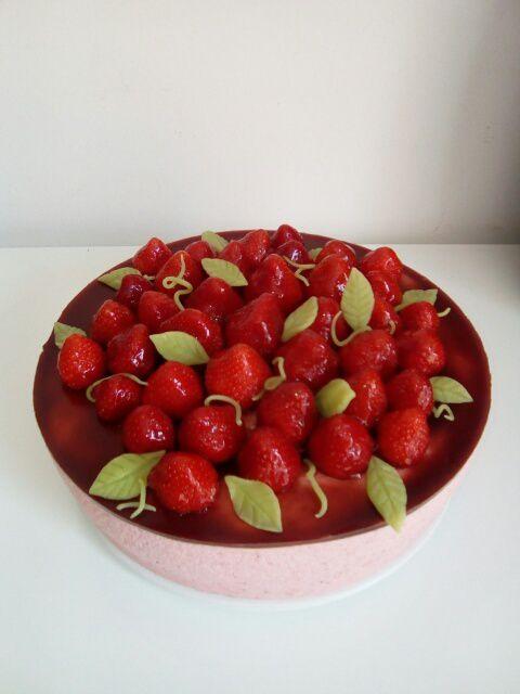 Bavarois tarte aux fraise les d lices d 39 eden paloma for Miroir aux fraises