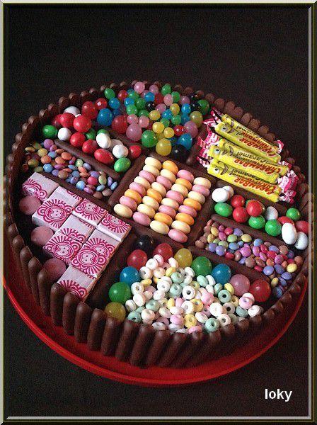 Le g teau de bonbons loky vous vient la bouche - Decoration en bonbon pour anniversaire ...