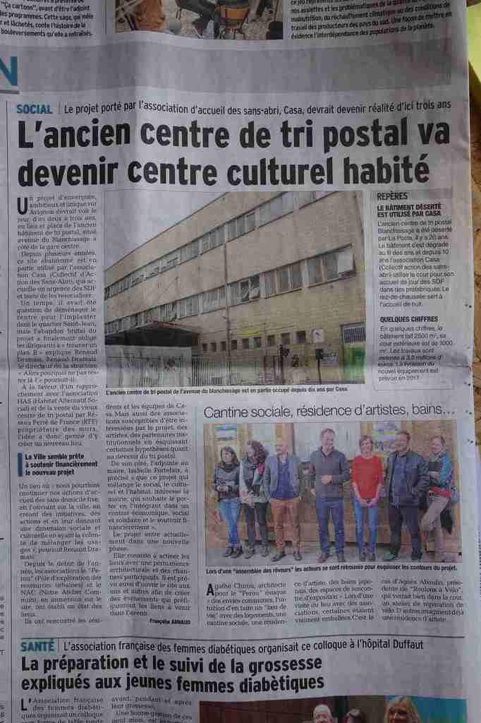 Vaucluse Matin, publié le 02/12/2014