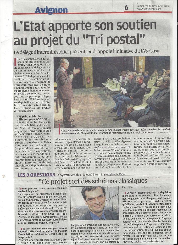 La Provence, publié le 14/12/2014