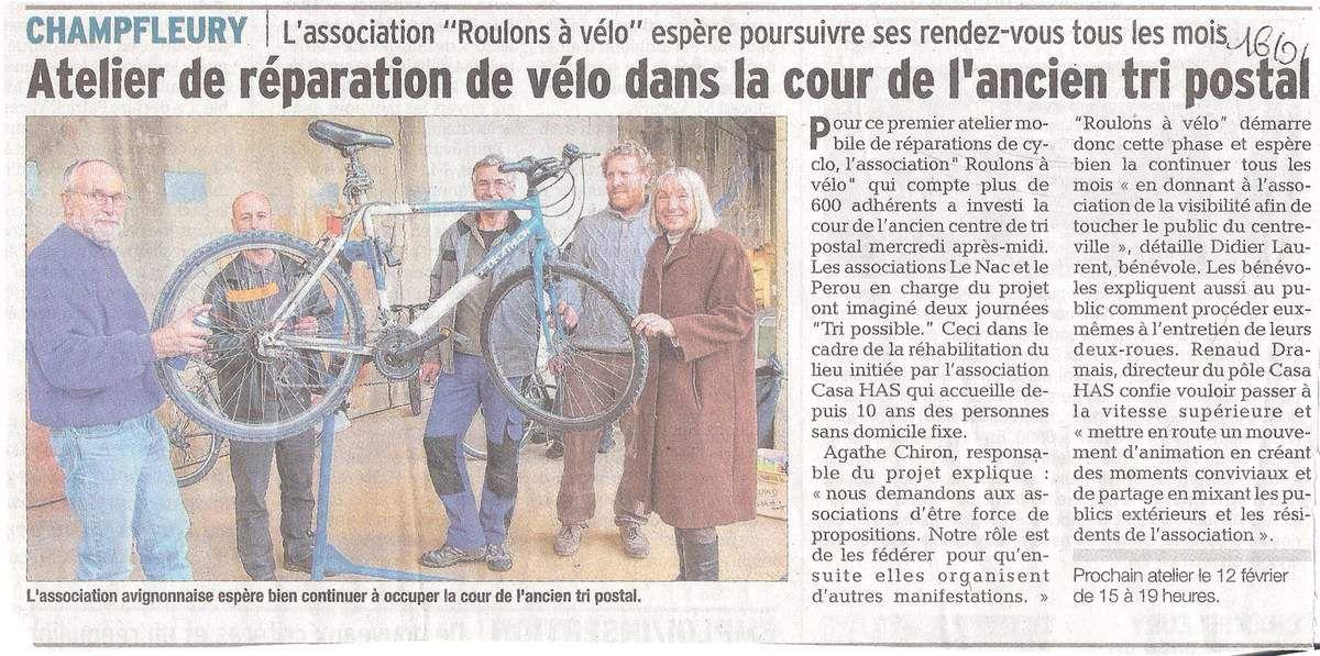 Vaucluse Matin, publié le 16/01/2015