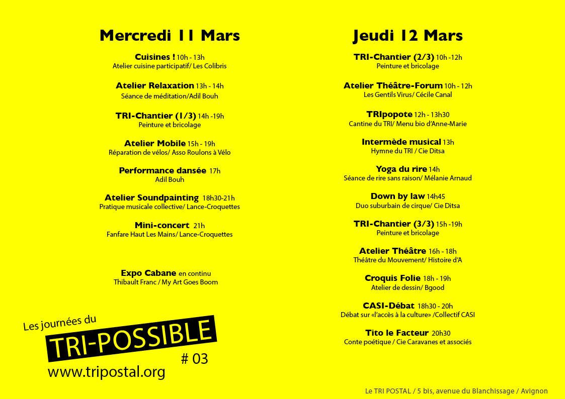 JOURNEES DU TRI-POSSIBLE #03