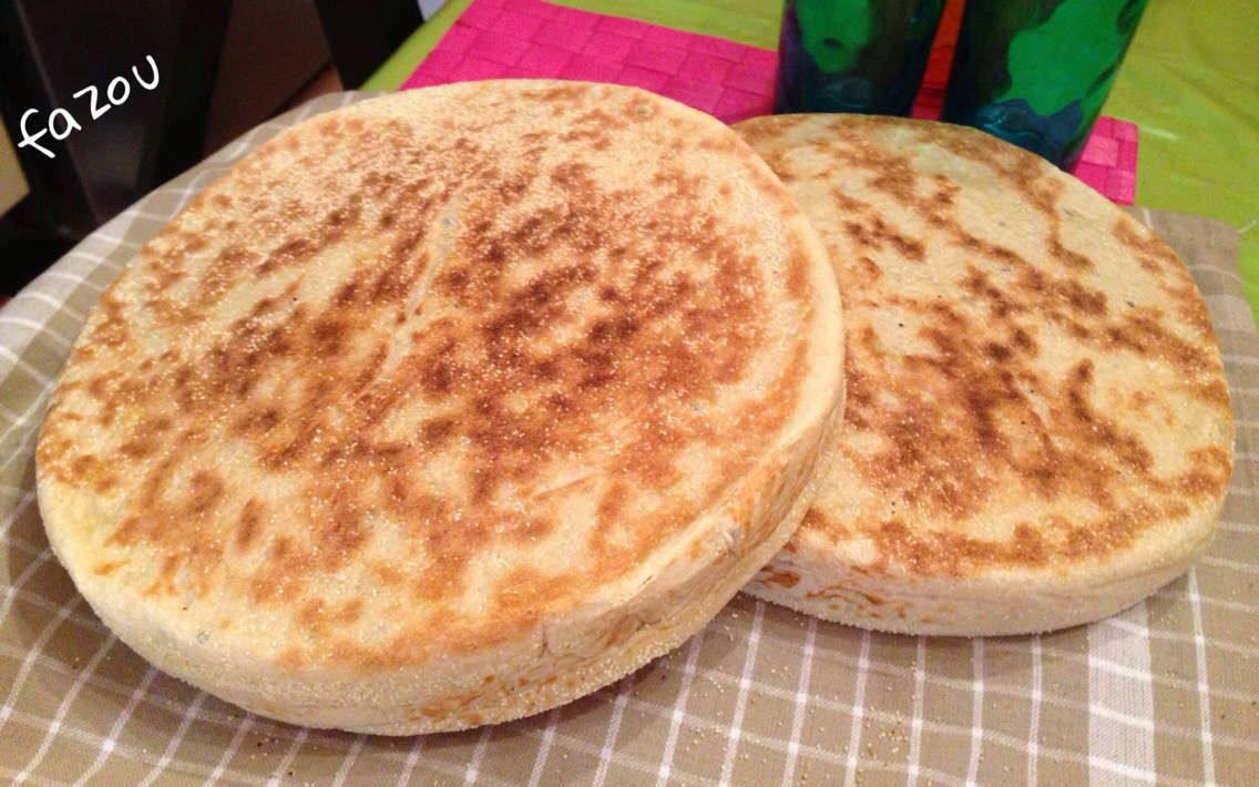 Matlou3 (pain cuit à la poêle )