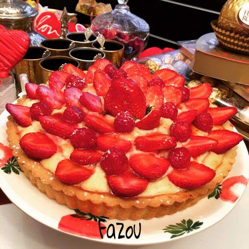 Tarte au fraises � �