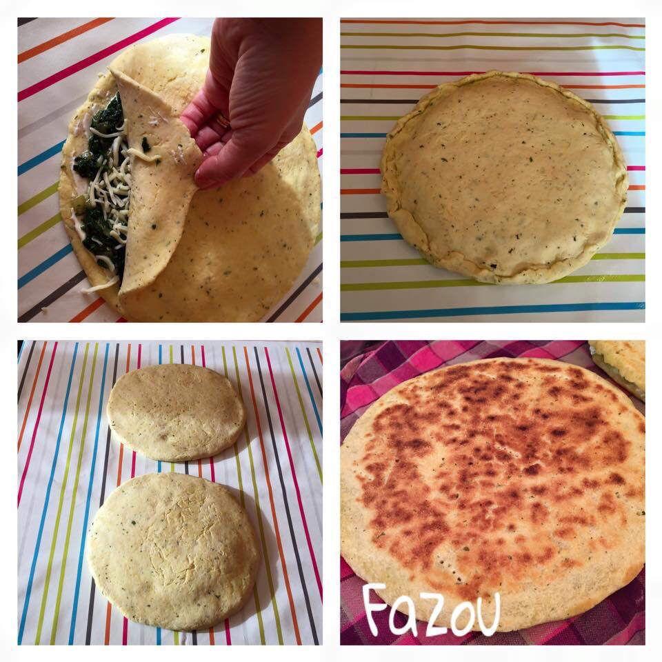 Kesra au galettes algériennes farcie au viande et Kesra au galettes algériennes farcie au viande et épinard et mozzarella