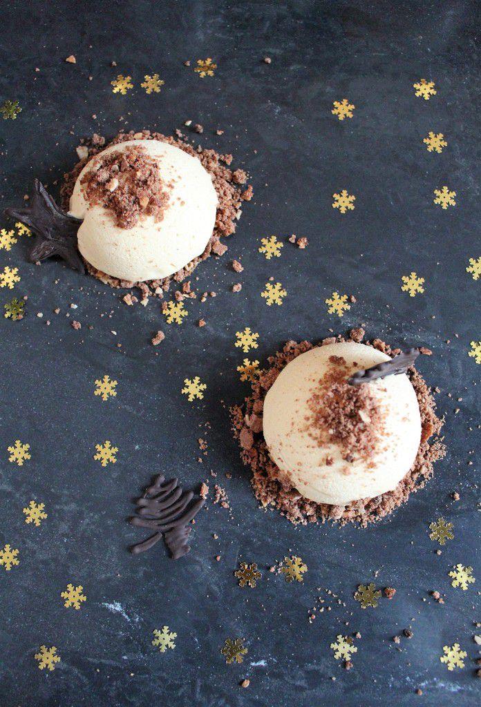 Parfaits glacés au caramel &amp&#x3B; Biscuit Linzer. {Christophe Adam}.