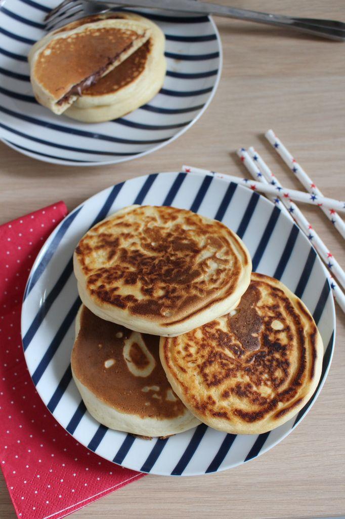 Pancakes fourrés au Nutella®.
