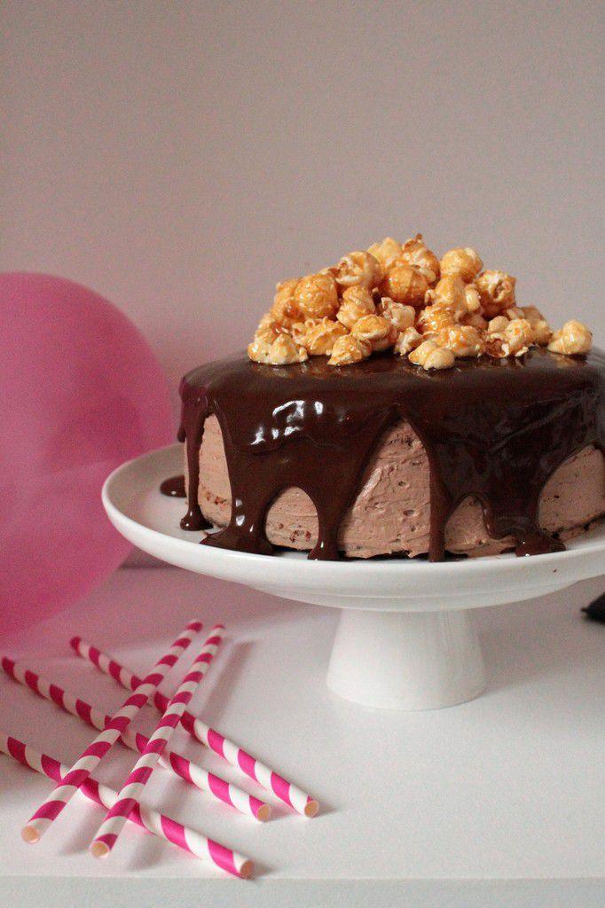 Layer Cake Pop-Corn, Chocolat &amp&#x3B; Caramel.
