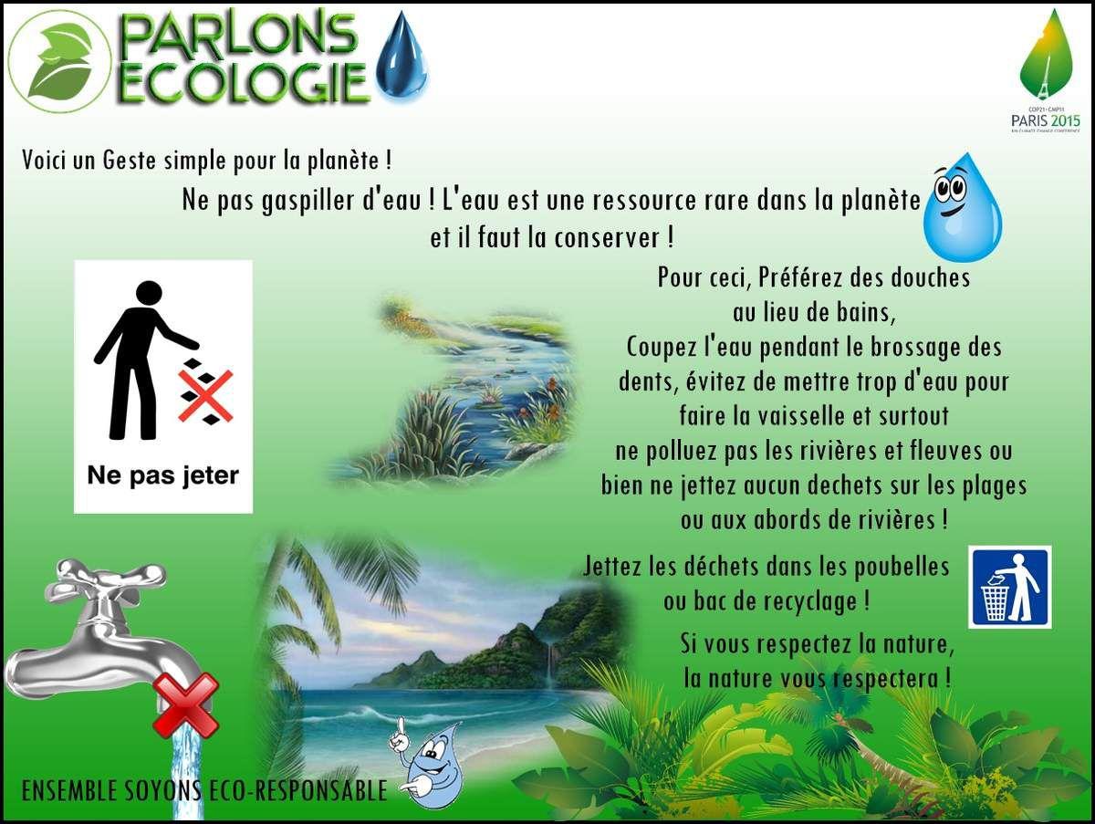 Parlons Ecologie : L'eau !