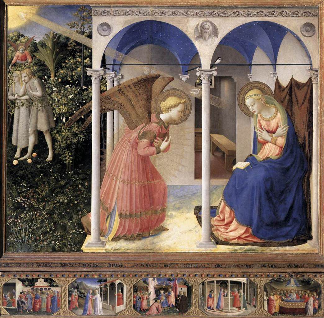 Annonciation par Fra Angelico Vers 1430 (Madrid, Museo del Prado)