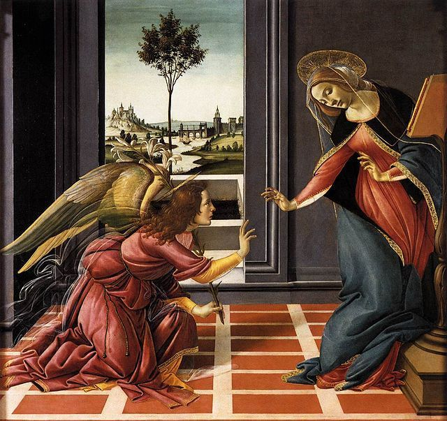 Annonciation du Cestello par Botticelli, vers 1489-90