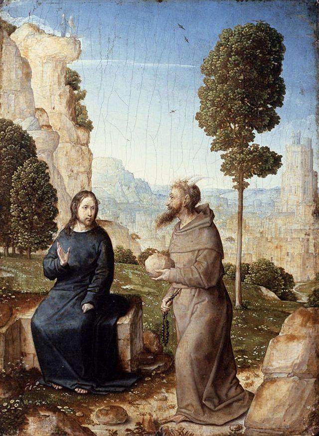 Juan de Flandes, la tentation du Christ, 1496-1499