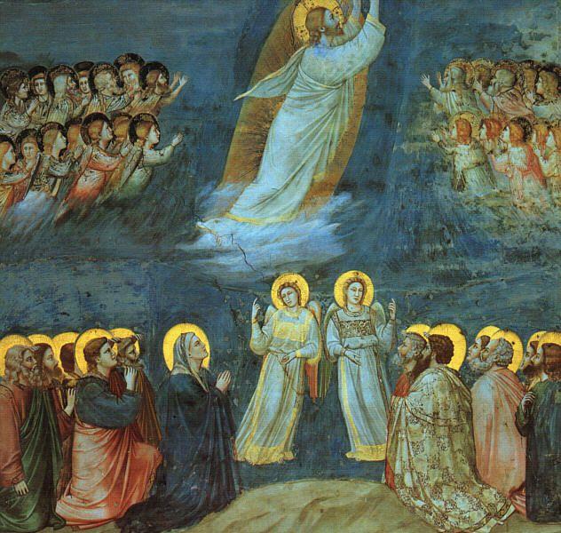 Ascension par Giotto (Padoue, Chapelle des Scrovegni, 1304-1306)