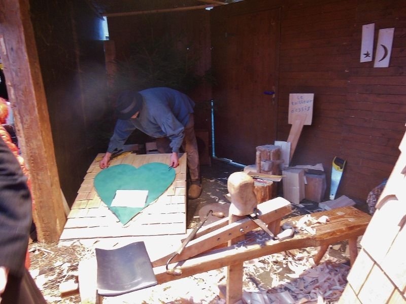 Décor d'une toiture en bois